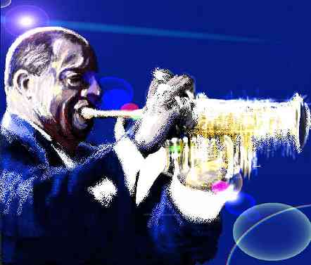 Painting of Louis Armstrong - 18k