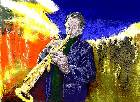 Click to load Street Saxophonist painting #2 - 15k