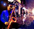 Click to load Street Saxophonist painting #1 - 15k