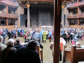 The awning over the yard for Titus Andronicus - Shakespeare's Globe 2013